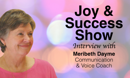 MERIBETH DAYME ON THE JOY & SUCCESS SHOW